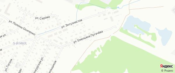 Улица Емельяна Пугачева на карте Архангельска с номерами домов