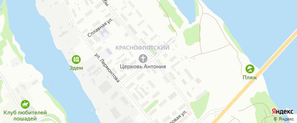 Улица Машиностроителей на карте Архангельска с номерами домов
