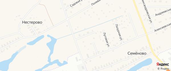 Рождественская улица на карте деревни Часовенского с номерами домов