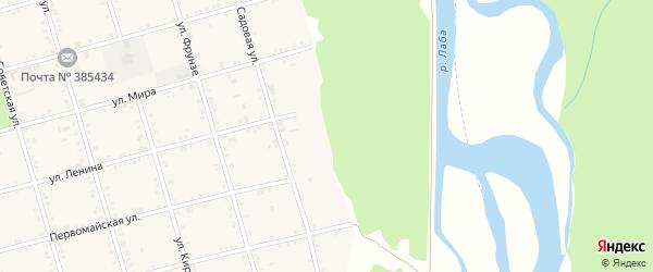 Набережная улица на карте села Натырбово с номерами домов