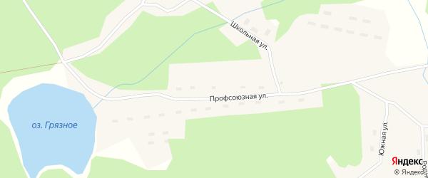 Строительная улица на карте поселка Ломового с номерами домов