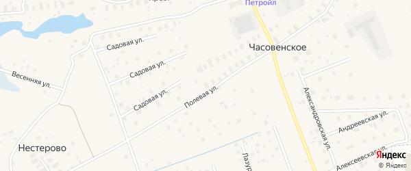 Луговая улица на карте садового некоммерческого товарищества Строителя сада N1 с номерами домов
