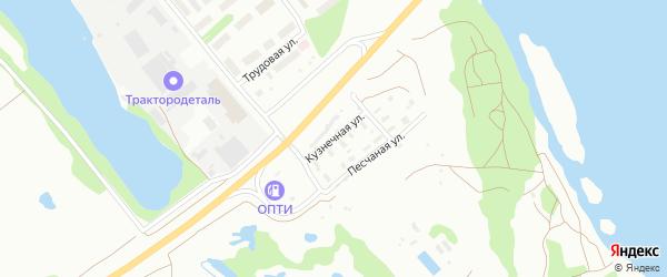 Кузнечная улица на карте Архангельска с номерами домов