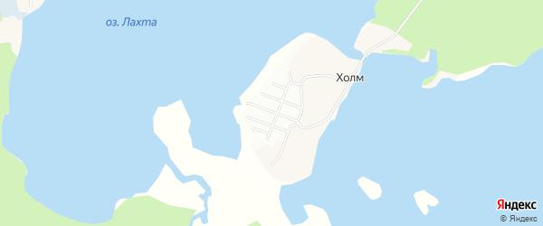 Карта садового некоммерческого товарищества Холма в Архангельской области с улицами и номерами домов