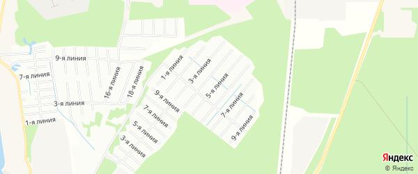 Карта садового некоммерческого товарищества Клюковки в Архангельской области с улицами и номерами домов