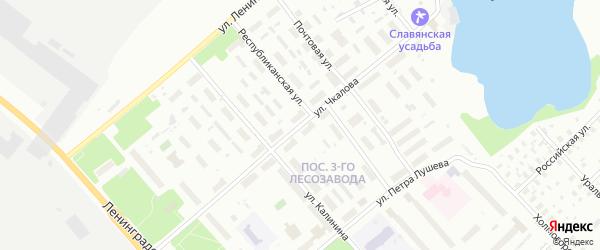 Улица Чкалова на карте Архангельска с номерами домов