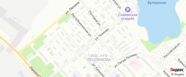 Республиканская улица на карте Архангельска с номерами домов