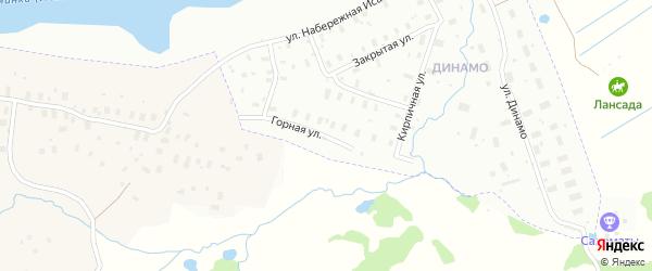 Горная улица на карте Архангельска с номерами домов