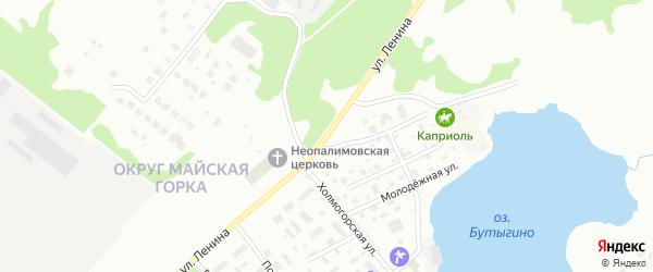 Улица Ленина на карте Мирного с номерами домов