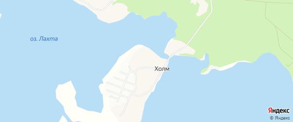 Карта деревни Холма в Архангельской области с улицами и номерами домов