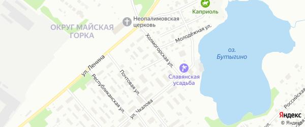 Полюсная улица на карте Архангельска с номерами домов