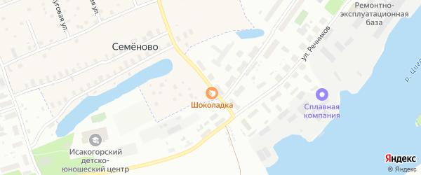 Улица 263 Сивашской дивизии на карте Архангельска с номерами домов