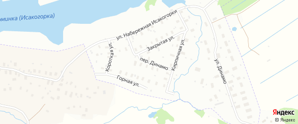 Переулок Динамо на карте Архангельска с номерами домов