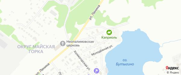 Луговая улица на карте Архангельска с номерами домов