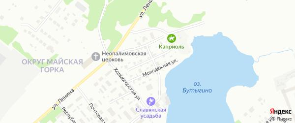 Бутыгинская улица на карте Архангельска с номерами домов