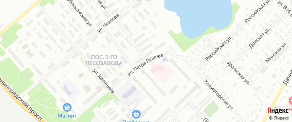 Почтовая улица на карте Архангельска с номерами домов