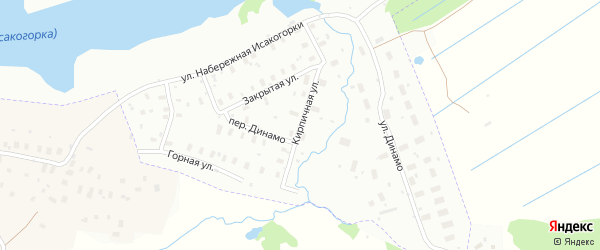 Кирпичная улица на карте Архангельска с номерами домов
