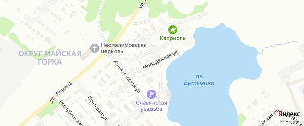 Молодежная улица на карте Архангельска с номерами домов