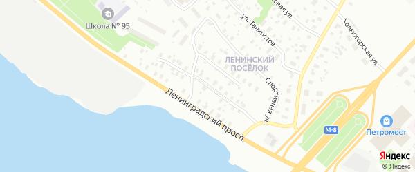 Улица Деревообделочников на карте Архангельска с номерами домов