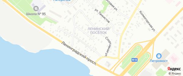 Строительная улица на карте Архангельска с номерами домов