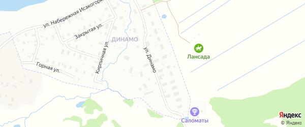 Улица Динамо на карте Архангельска с номерами домов