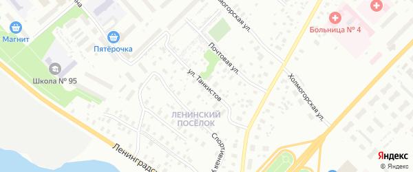 Улица Танкистов на карте Архангельска с номерами домов