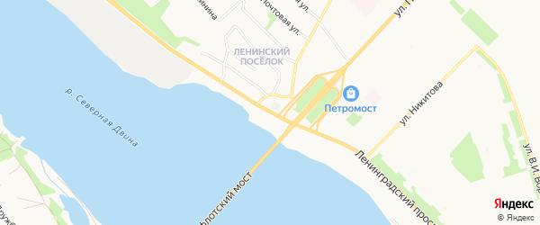 Ленинградский ГСК на карте Вельской улицы с номерами домов