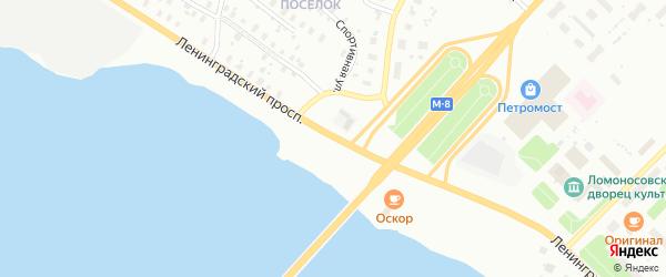 Ленинградский проспект на карте Архангельска с номерами домов