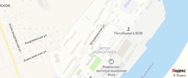 Штурманская улица на карте Архангельска с номерами домов