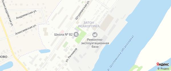 Улица Речников на карте Архангельска с номерами домов