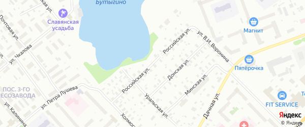 Российская улица на карте Архангельска с номерами домов