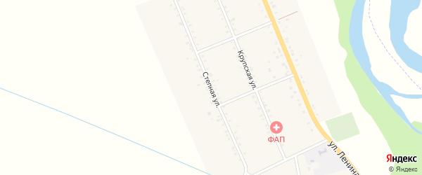 Степная улица на карте Казенно-Кужорского хутора с номерами домов