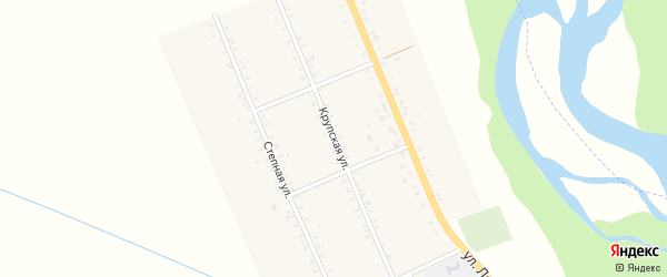 Крупская улица на карте Казенно-Кужорского хутора с номерами домов