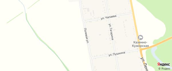 Полевая улица на карте Казенно-Кужорского хутора с номерами домов
