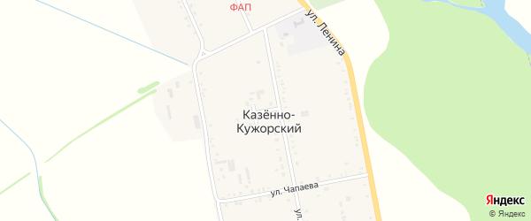 Улица Некрасова на карте Казенно-Кужорского хутора с номерами домов