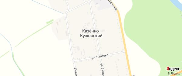 Дорога А/Д Майкоп-Псебай на карте Казенно-Кужорского хутора с номерами домов