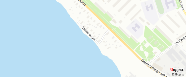 Заливная улица на карте Архангельска с номерами домов