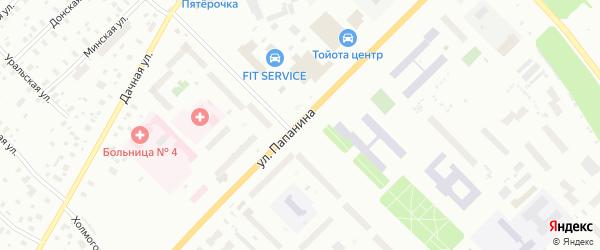 Улица Папанина на карте Архангельска с номерами домов