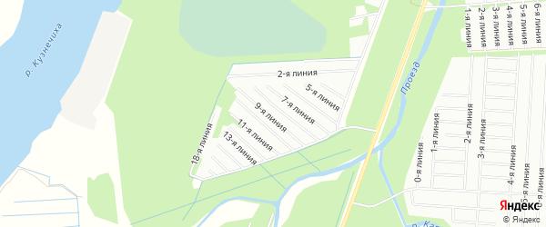 Карта садового некоммерческого товарищества Каркуля в Архангельской области с улицами и номерами домов