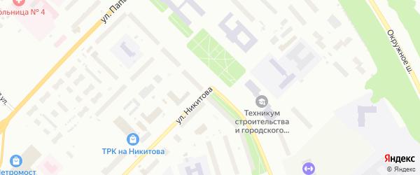 Улица Воронина на карте Архангельска с номерами домов