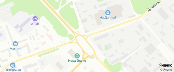 Дачная улица на карте Архангельска с номерами домов