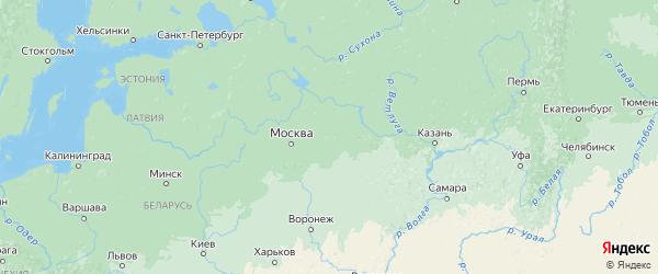 Карта Владимирской области с городами и районами