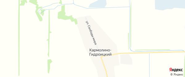 Карта Кармолино-Гидроицкого хутора в Адыгее с улицами и номерами домов
