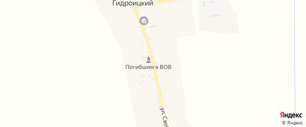 Улица Свободы мира на карте Кармолино-Гидроицкого хутора с номерами домов