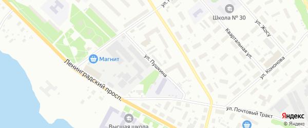 Улица Пушкина на карте Архангельска с номерами домов