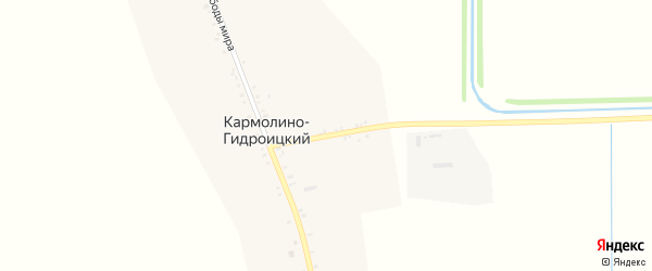 Восточный переулок на карте Кармолино-Гидроицкого хутора с номерами домов