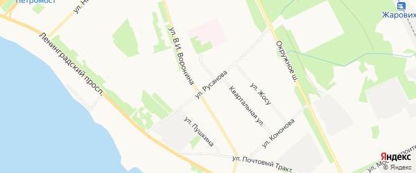 ГСК Кварцит на карте улицы Русанова с номерами домов