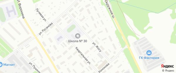 Улица Жосу на карте Архангельска с номерами домов