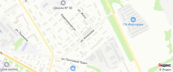 Улица Кононова И.Г. на карте Архангельска с номерами домов