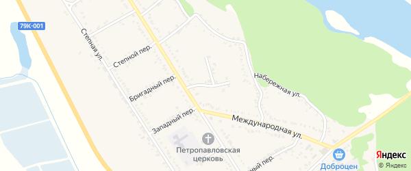 Цветочный переулок на карте Вольного села с номерами домов